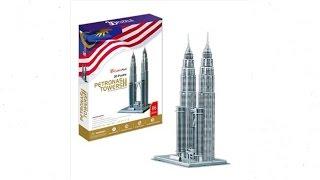 """""""Torres Petronas""""   """"Petronas Towers"""" - Puzzle 3D"""