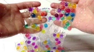 getlinkyoutube.com-Gravity Goo Slime Balls Orbeez Polymers Kit ~ Incredible Science