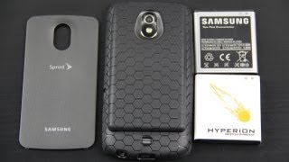 getlinkyoutube.com-Hyperion Samsung Galaxy Nexus 3800mAh Extended Battery with Black HoneyComb TPU Case