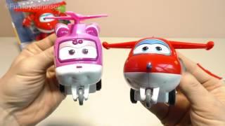 Super Wings Transforming Toys Transform-a-Bots, Vroom 'n Zoom Jett Dizzy Paul Mira Grand Albert