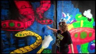 getlinkyoutube.com-Painting ChromaDepth 3D Haunt Panels