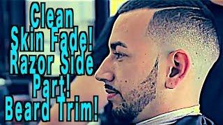 getlinkyoutube.com-Skin Fade   Beard Line Up   Razor Line Part   Barber Tutorial   Step by Step   Corte de pelo   Kv7
