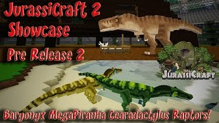 getlinkyoutube.com-JurassiCraft 2.0 Showcase Pre Release 2 Baryonyx MegaPiranha Cearadactylus Raptors & more