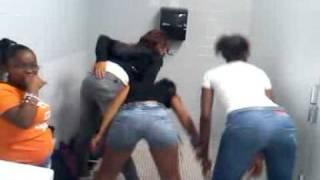 Dancing in the school bathroom