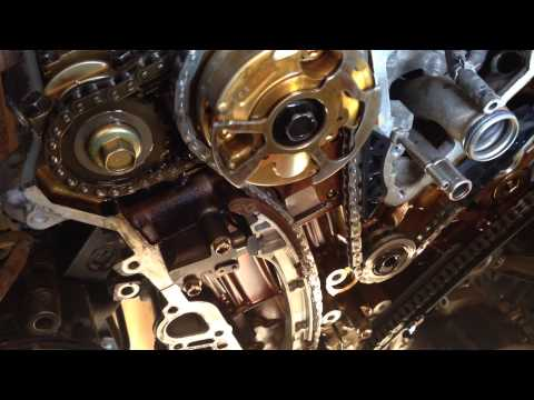 Новая цепь привода ГРМ двигателя 1GR-FE