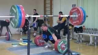 Dmitry Lapikov Snatch 200kg  (441 lbs) , 205 kg (452 lbs),  210kg (463 lbs) , SEP 1, 2013