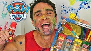 getlinkyoutube.com-Paw Patrol Bath Time Paint Set ! || Toy Unboxing || Konas2002