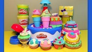 getlinkyoutube.com-Play-Doh-HUGE ★ Cake & Ice Cream Confections Playset ★40+Accessories-Hasbro-Sweets Shoppe
