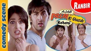 getlinkyoutube.com-Ranbir Kapoor Comedy Scenes  | Ajab Prem Ki Gazab Kahani | Indian Comedy