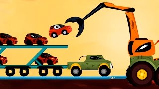 getlinkyoutube.com-Мультики про машинки.Мультфильм Машинка Редди спасает от бандитов - Погоня. Видео для детей Анимашка