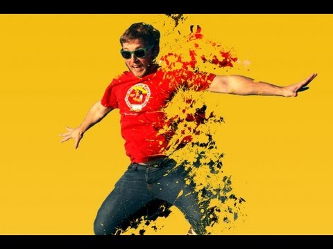 Photoshop Tutorial : Dispersion Effect with Splash Brushes