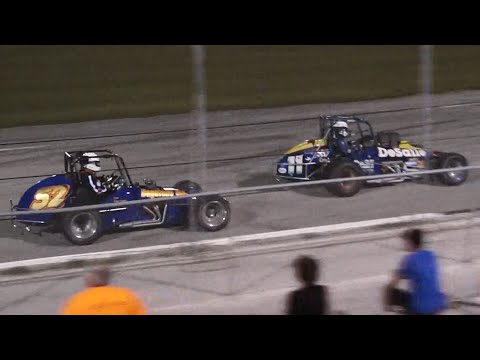 DAARA Vintage Sprint Car Feature Race, 10-18-2014