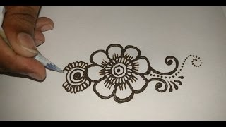 getlinkyoutube.com-Easy simple beautiful mehndi designs for full hands tutorials:Matroj Mehndi Designs