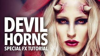getlinkyoutube.com-Awesome devil horns fx makeup tutorial