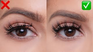 FALSE LASHES: Do's and Don'ts   For Beginners! width=