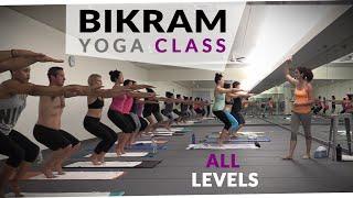 getlinkyoutube.com-Bikram Yoga Workout - 🔥 60 Minute Hot Yoga with Maggie Grove