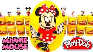 getlinkyoutube.com-Huevo Sorpresa Gigante de Minnie Mouse en Español Plastilina Play Doh