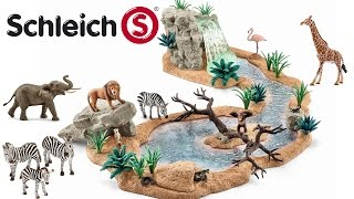 getlinkyoutube.com-Schleich NEW 2016 Waterfall River and Watering Hole Collector's Review