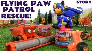 getlinkyoutube.com-Paw Patrol fly in to rescue Mashems from Disney Cars Toys Frank surprise family fun for kids