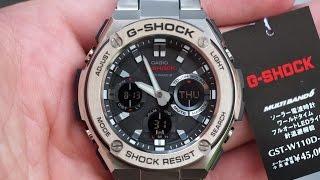 getlinkyoutube.com-G-SHOCK GST-W110D-1A 2015 | Обзор и настройка (на русском) | Купить со скидкой