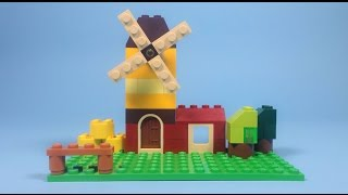 "getlinkyoutube.com-Lego Windmill Building Instructions - Lego Classic 10696 ""How To"""