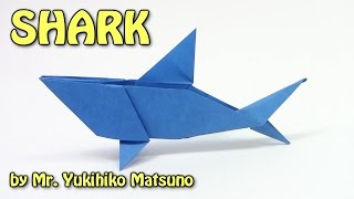 getlinkyoutube.com-Cool Origami SHARK by Mr. Yukihiko Matsuno - Origami easy tutorial