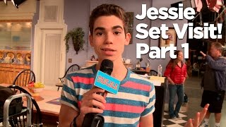 "getlinkyoutube.com-Behind The Scenes of the ""Jessie"" Set with Cameron Boyce! Part 1"