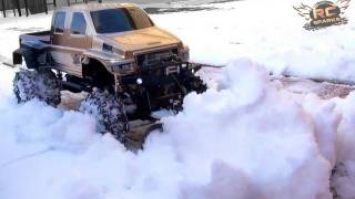 getlinkyoutube.com-RC ADVENTURES - OVERKiLL PLOWS IN HEAVY SNOW - Custom 4x4 Truck