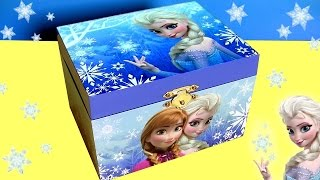 getlinkyoutube.com-Caixinha Musical Surpresa Disney Frozen Anna Elsa Olaf Kinder Egg Olaf Cars em Portugues