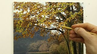 getlinkyoutube.com-#52 How to paint an autumn tree | Oil Painting | Michael James Smith