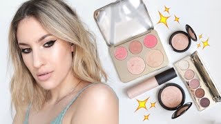 getlinkyoutube.com-FIRST LOOK: ENTIRE Becca X Jaclyn Hill CHAMPAGNE COLLECTION | Review + Swatches | JamiePaigeBeauty
