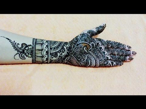 Best Full hand bridal Mehndi design in steps - beautiful Mehendi henna Mehandi design for Diwali