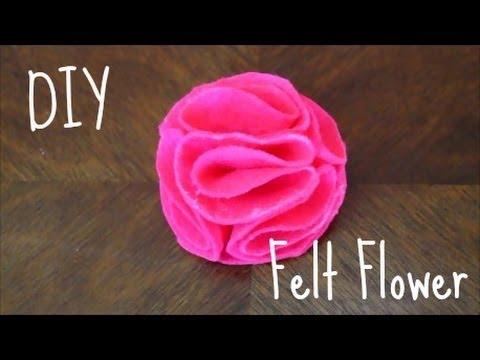 How to Make a Felt Flower- DIY Tutorial