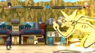 getlinkyoutube.com-NSUNS4 Mugen Demo - Sasuke vs Naruto