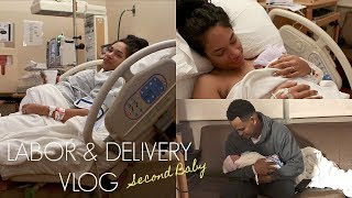 LABOR AND DELIVERY VLOG | SECOND BABY