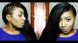 getlinkyoutube.com-DIY : SIDE MOHAWK CROCHET BRAIDS USING X-PRESSION HAIR , KNOTLESS SIDE PART