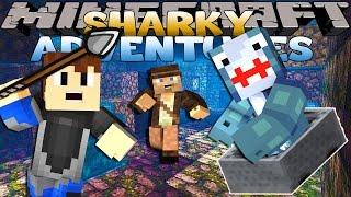 getlinkyoutube.com-Minecraft Adventure - Sharky and Scuba Steve - HUNTING FOR TREASURE!!
