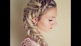 getlinkyoutube.com-How to: Dutch Fishtail Braid (Elsa Hair)