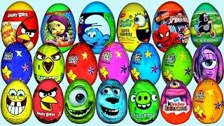 getlinkyoutube.com-70 Surprise eggs Kinder Surprise Маша и Медведь Disney Pixar Cars 2