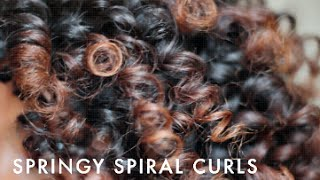 getlinkyoutube.com-Springy Spiral Curls With Flexi Rods | Natural Hair