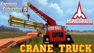 getlinkyoutube.com-Farming Simulator 2015 mod MAGIRUS 200D26A 6X6 Crane Truck