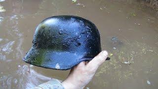 getlinkyoutube.com-Раскопки на Железной реке N 3 \Searching relics of WW2  in the River N 3