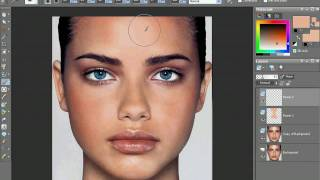getlinkyoutube.com-Even Skin tone with Corel Paint Shop Pro X2 and remove a shiny face