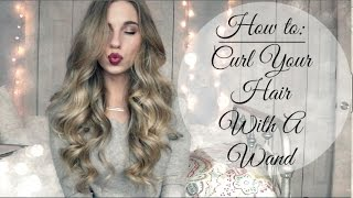 getlinkyoutube.com-How To Curl Your Hair Using A Curling Wand | Tips & Tricks