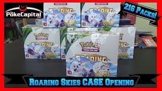 getlinkyoutube.com-Opening Pokemon Cards Roaring Skies Booster Box Case