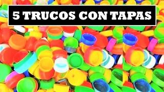 getlinkyoutube.com-5 Trucos con Tapas de Botella Plastica