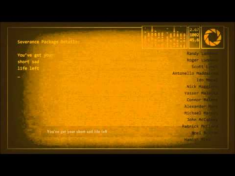 Portal 2 Walkthrough - Credits & Ending Cinematic [1080p HD] (PS3X360PC).wmv