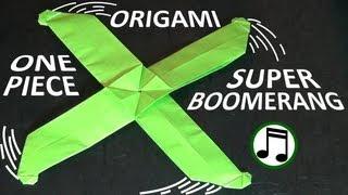 getlinkyoutube.com-One-Piece Origami Super Boomerang
