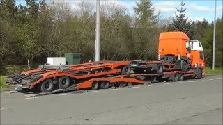 getlinkyoutube.com-De Rooy DAF Transporter loading a De Rooy Iveco Transporter