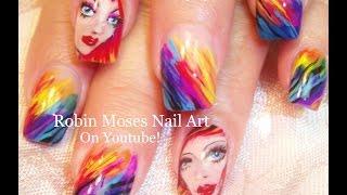 getlinkyoutube.com-Rainbow Nails! | Watercolor Rainbow nail art design tutorial